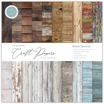 CRAFT CONSORTIUM-Essential Craft Papers 6x6 Inch Paper Pad Wood Textures