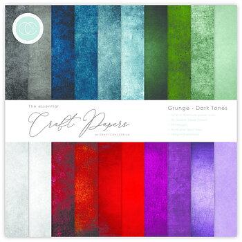 CRAFT CONSORTIUM-Essential Craft Papers 6x6 Inch Paper Pad Grunge Dark Tones