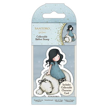 GORJUSS Collectable Mini Rubber Stamp No.78 Winter Friend