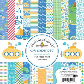 "Doodlebug Double-Sided Paper Pad 6""X6""-Anchors Aweigh"