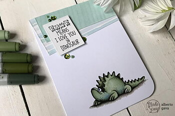 MODASCRAP CLEAR STAMPS MSTC 7-012 - DINO LAND 2