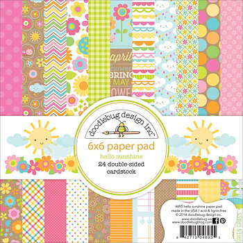 "Doodlebug Double-Sided Paper Pad 6""X6""  HELLO SUNSHINE"