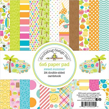 "Doodlebug Double-Sided Paper Pad 6""X6""Sweet Summer"