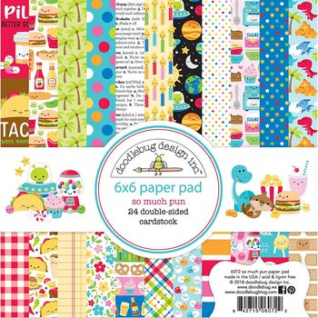 "Doodlebug Double-Sided Paper Pad 6""X6""So Much Pun"