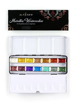 ALTENEW -Metallic Watercolor 14 Pan Set