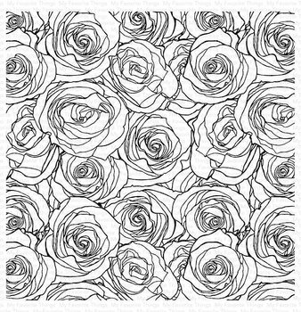 MY FAVORITE THINGS -Roses All Over Background