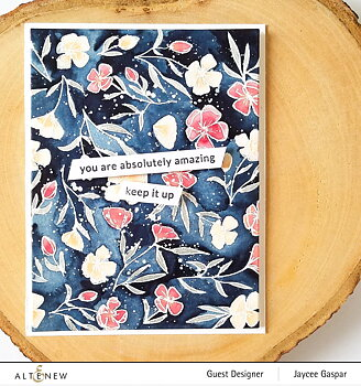 ALTENEW -Delicate Flower Bed Stamp Set