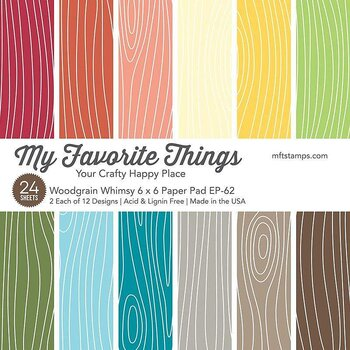 MY FAVORITE THINGS -Woodgrain Whimsy Paper Pad
