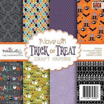 POLKADOODLES  In love with Trick or Treat 6x6 Inch Paper Pack