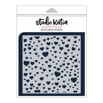 STUDIO KATIA-SCATTERED HEARTS STENCIL