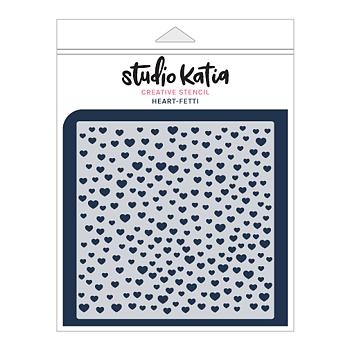STUDIO KATIA-HEART-FETTI STENCIL