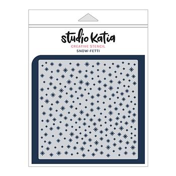 STUDIO KATIA-SNOW-FETTI STENCIL