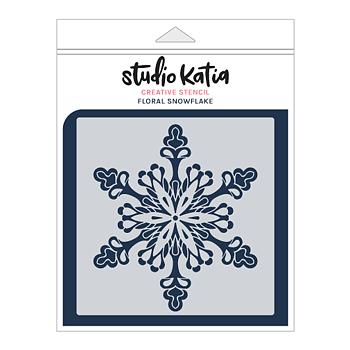 STUDIO KATIA-FLORAL SNOWFLAKE STENCIL