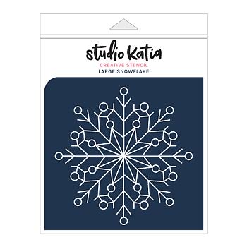 STUDIO KATIA-SNOWFLAKE STENCIL