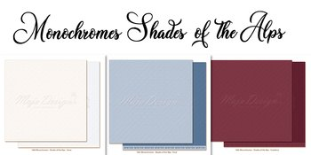 MAJA DESIGN Monochromes - Shades of the Alps PAPERPACK 6X6