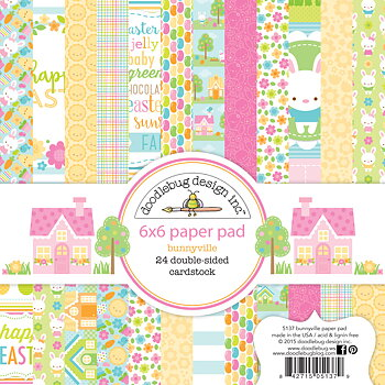 Doodlebug Design Bunnyville 6x6 Inch Paper Pad