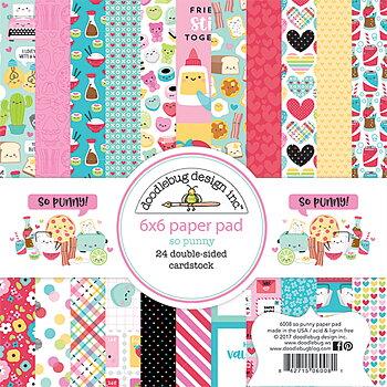 Doodlebug Design - 6x6 Inch Paper Pad  -So Punny