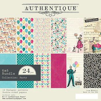 AUTHENTIQUE PAPER Party 6x6 Inch Paper Pad