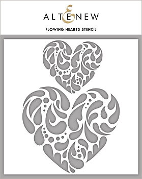 ALTENEW -Flowing Hearts Stencil