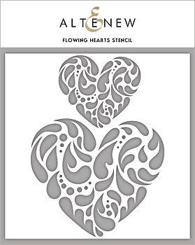 ALTENEW -Flowing Hearts Stencil