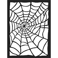 Stamperia Thick Stencil 15x20cm Spider Web