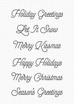 MY FAVORITE THINGS -Snow Globe Greetings