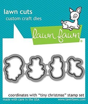 LAWN FAWN   TINY CHRISTMAS STAMP& DIE SET