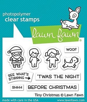 LAWN FAWN  - TINY CHRISTMAS  STAMP& DIE SET