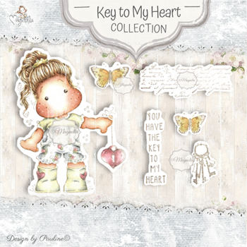 MAGNOLIA-KH-20 Key To My Heart Art stamp Sheet
