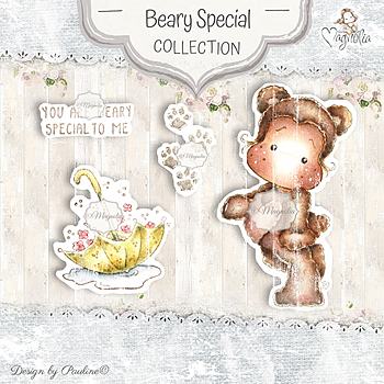 MAGNOLIA-BS-20 Beary Special Art stamp Sheet