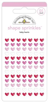 Doodlebug Design -  Shape Sprinkles -91pcs-  Baby Hearts