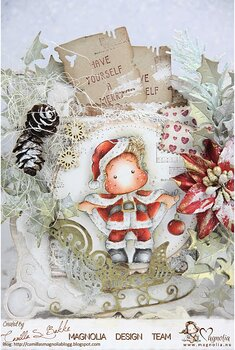 MAGNOLIA-MCC-19 Merrry Little Santa Art stamp Sheet