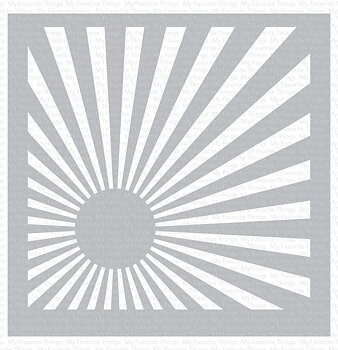 MY FAVORITE THINGS -Sunrise Radiating Rays Stencil