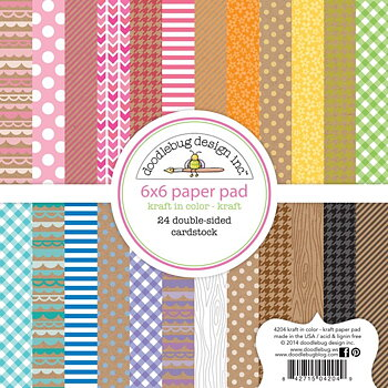 "Doodlebug Design-Paper Pad 6""X6"" -Kraft In Color"