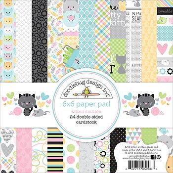 """Doodlebug Double-Sided Paper Pad 6""""X6"""" 24/Pkg-Kitten Smitten"""