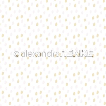 ALEXANDRA RENKE -Designpaper 'Little rose and yellow spots' 6x6""