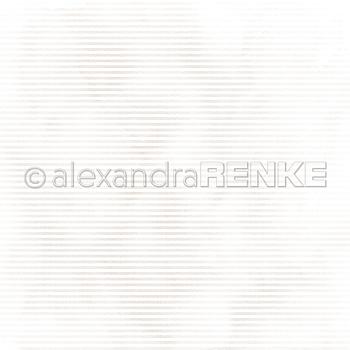 "ALEXANDRA RENKE -Designpaper 'Mimi gold stripes' 6x6"""