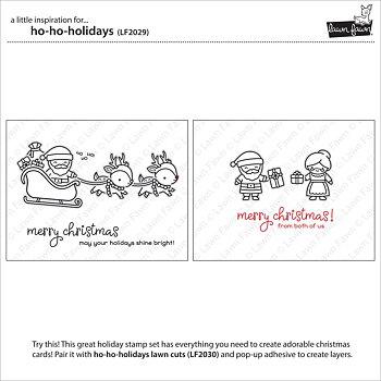 LAWN FAWN -ho-ho-holidays