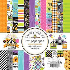 Doodlebug Design- 6x6 Inch Paper Pad -Candy Carnival