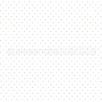 "ALEXANDRA RENKE-Designpaper 'Little dots mud' 6x6"""