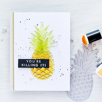 HERO ARTS  Paper Layering Dies-Pineapple