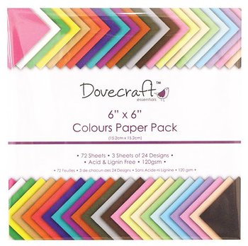 Dovecraft 6x6 Inch Colours Paper Pack