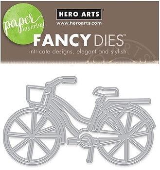 HERO ARTS BICYCLE WITH BASKET FANCY DIE