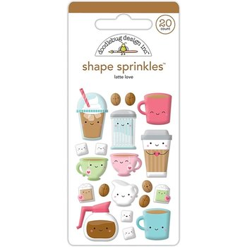 Doodlebug -LATTE LOVE  Shape sprinkles  Cream and Sugar