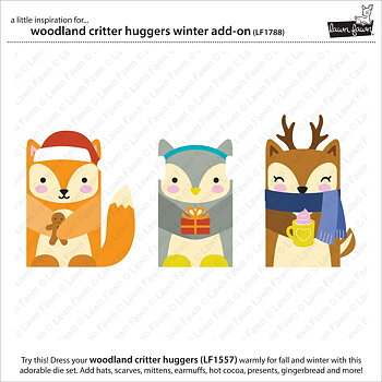 LAWN FAWN -woodland critter huggers winter add-on