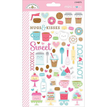 Doodlebug CREAM AND SUGAR Mini Icons Sticker Sheets