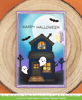 LAWN FAWN -build-a-house halloween add-on
