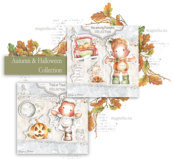 MAGNOLIA-QH-20 Autumn & Halloween Collection Art Stamp Sheet