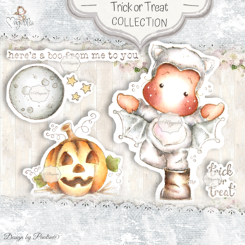 MAGNOLIA  -QH-20 Autumn & Halloween Collection Art Stamp Sheet