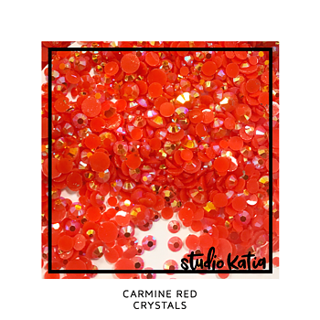 STUDIO KATIA-CARMINE RED CRYSTALS